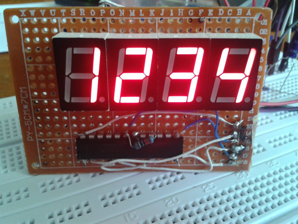 7 Segment Display (Anode) with MAX7219 / MAX7221 and