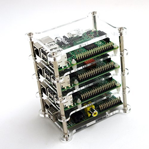 Stackable Raspberry Pi case 4x