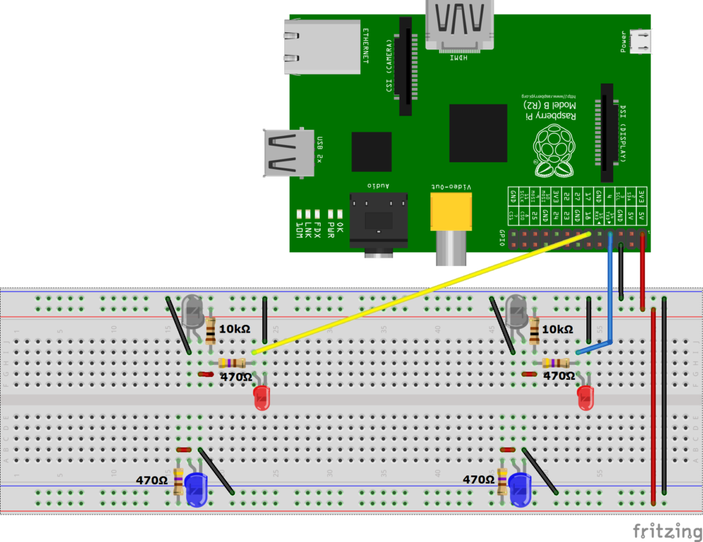 Build A Raspberry Pi Infrared Light Barrier And Measure Speed Your Own Security Systems Ir Receiver Circuit Diagram